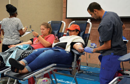 Student Life brings in several gallons of blood donations